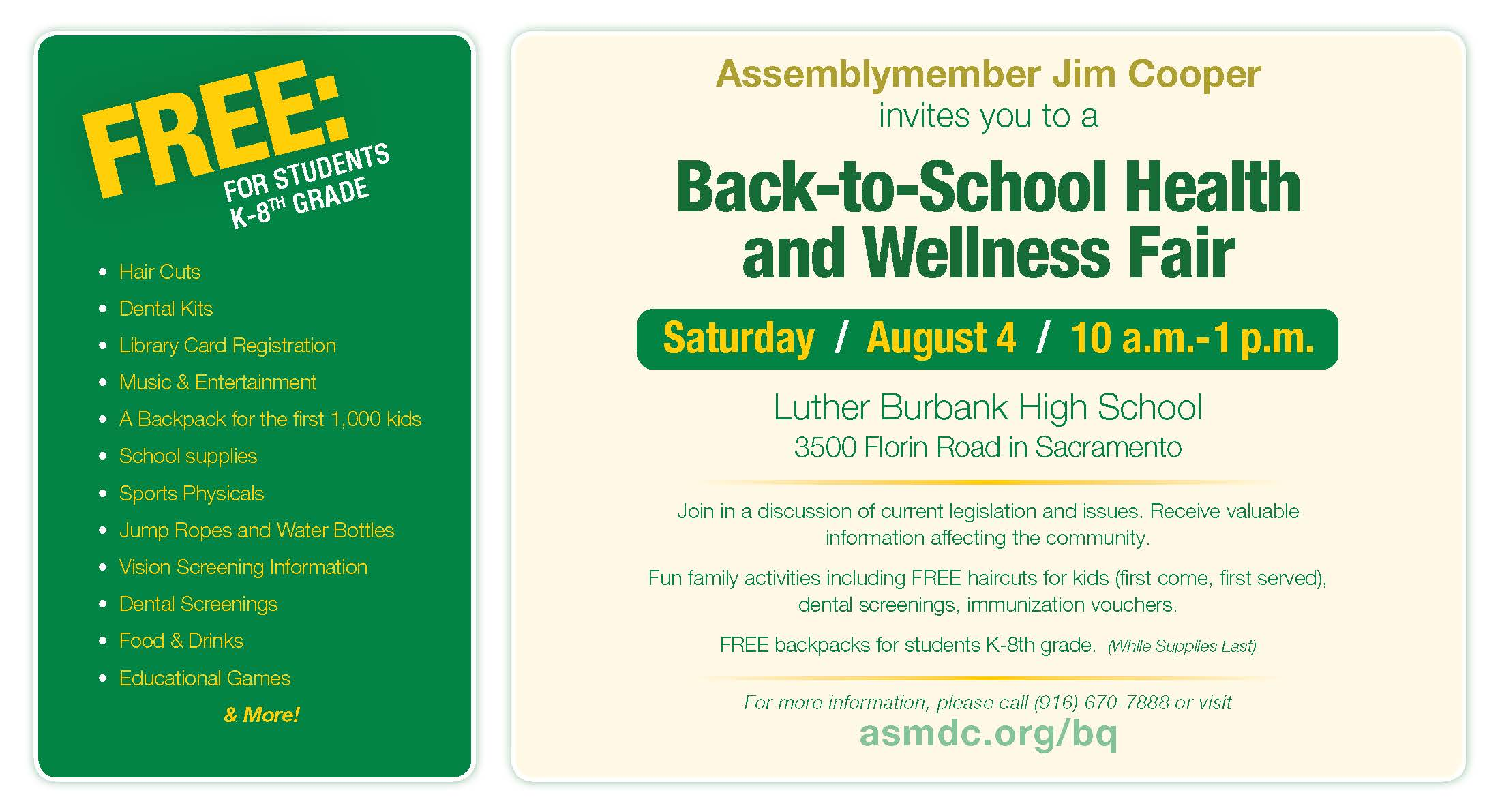 Back-to-School Health and Wellness Fair | Official Website