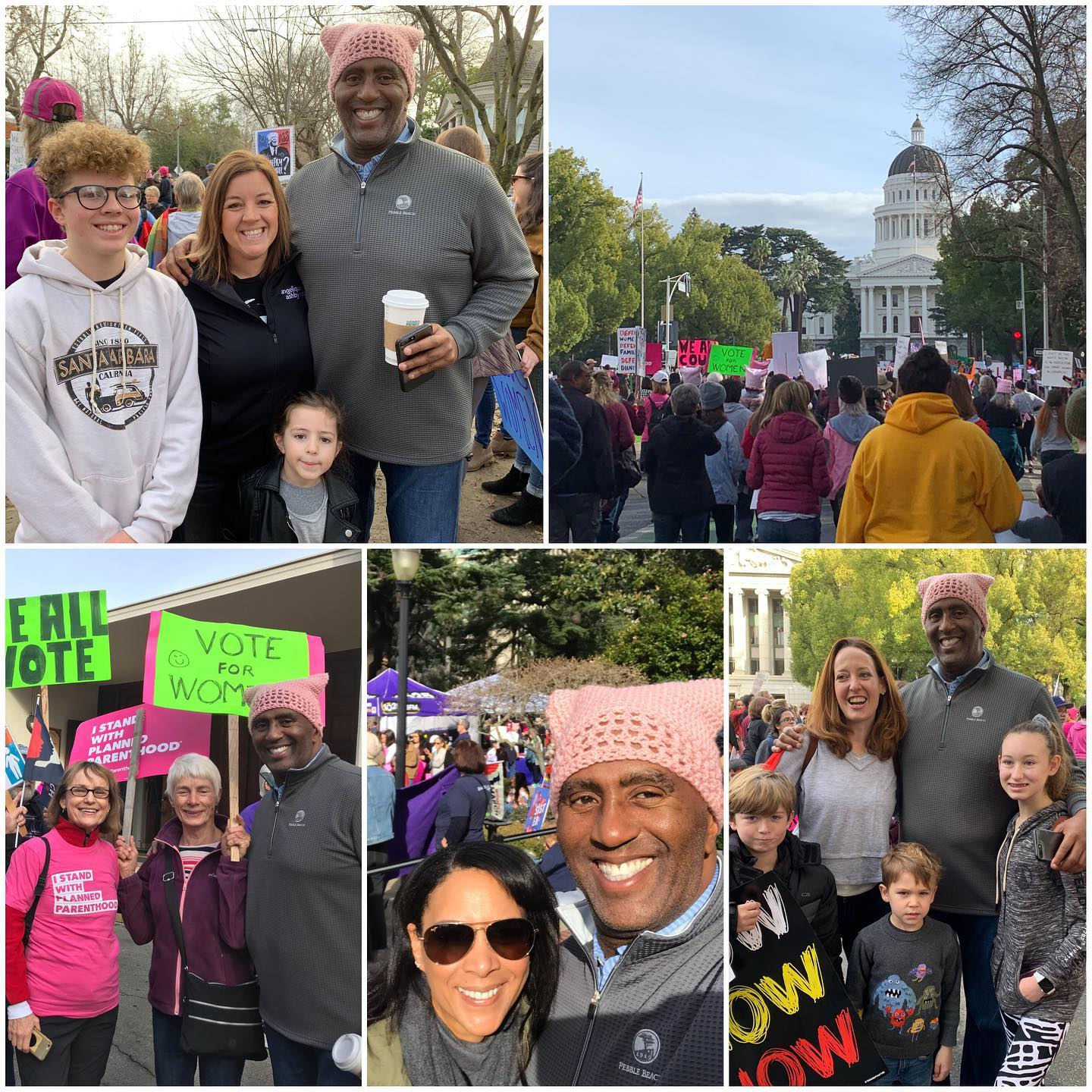I took part in another amazing Women's March in Sacramento.  It was great to see so many people marching in solidarity to end violence against women.