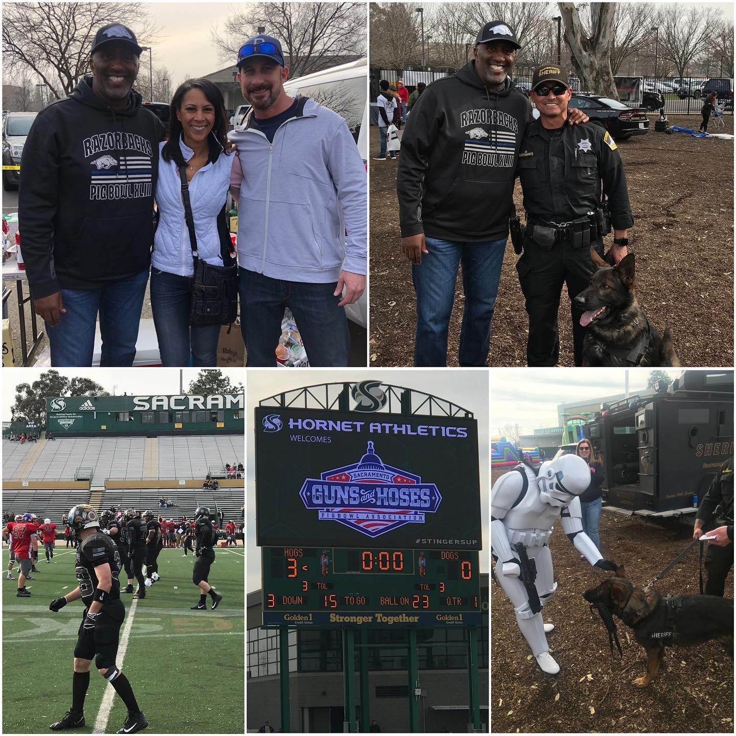 Thanks to my colleagues, Assemblymember Autumn Burke and Assemblymember Heath Flora, for joining me at the 45th annual Guns & Hoses charity football game.