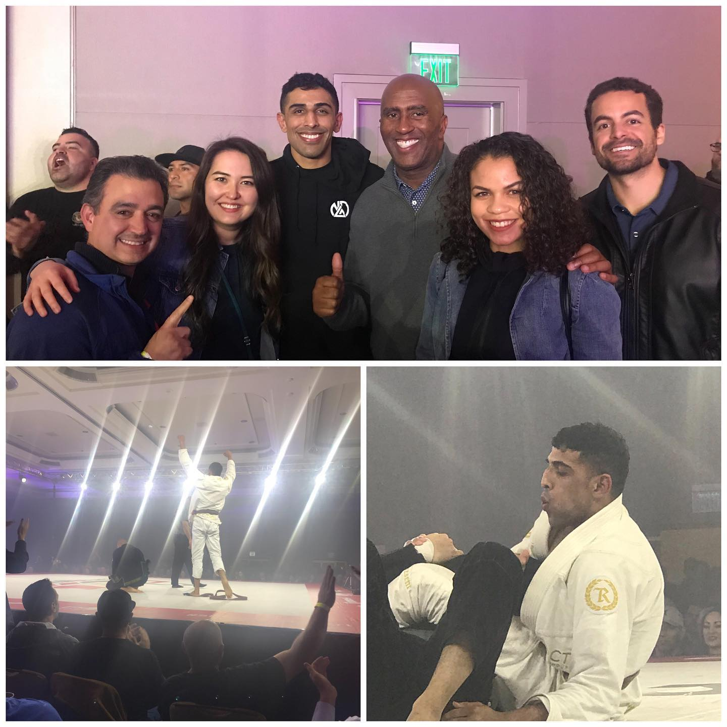 """I also cheered on my District Director, Mikey Hothi, at the"""" Fight to Win"""" pro Jiu-Jitsu competition.  He won by submission"""