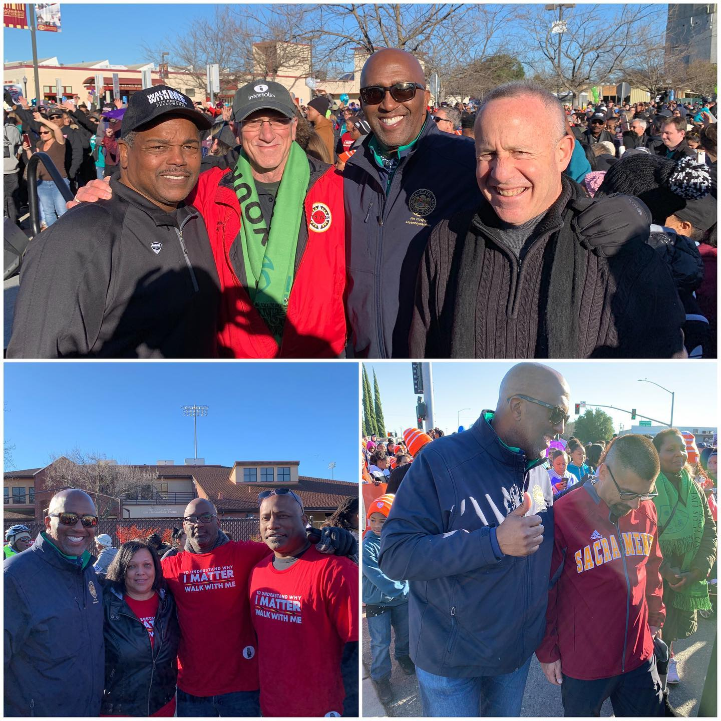 """This year's """"March for the Dream"""" in Sacramento was a huge success.  It's always inspiring marching with our brothers and sisters in remembrance of Dr. King."""