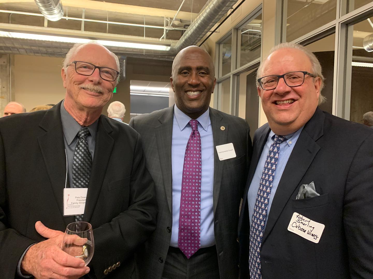 It's always great to see wine makers from AD 9 at the annual Family Winemakers of California reception.  Here I am with Pete Downs of Family Winemakers of CA and Robert Smerling of Cabana Winery.