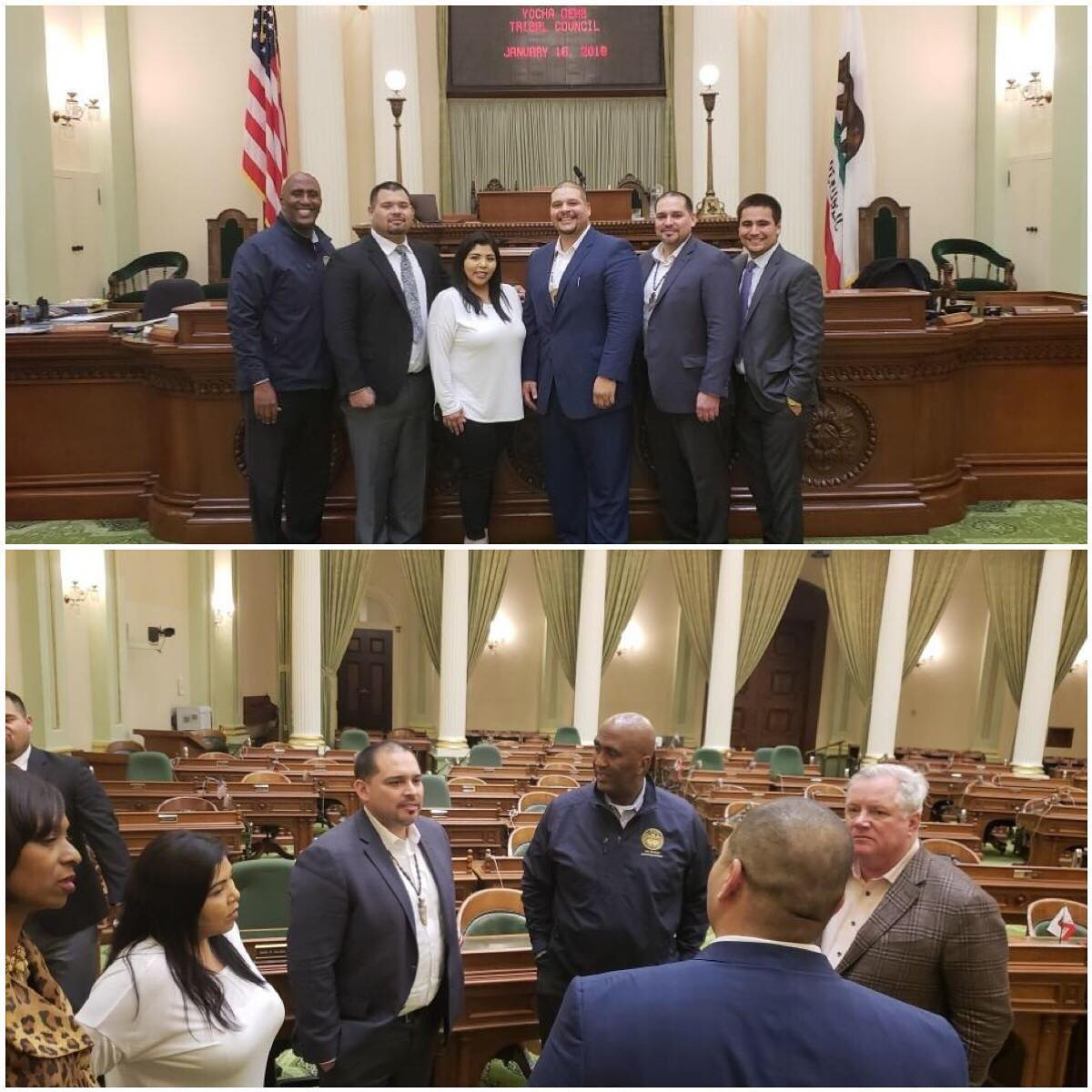 I had the pleasure of welcoming members of the Yocha Dehe Wintun Nation tribal council to the State Capitol.