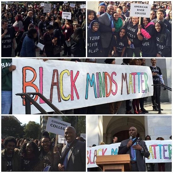 Young and Gifted Black Minds rallying at the Capitol