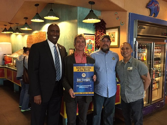 9th Assembly Districts May Small Business of the Month, Dos Coyotes