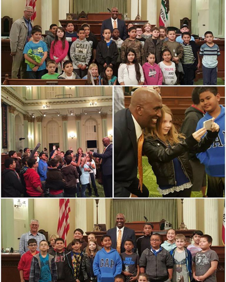 James A. McKee Elementary school Capitol visit