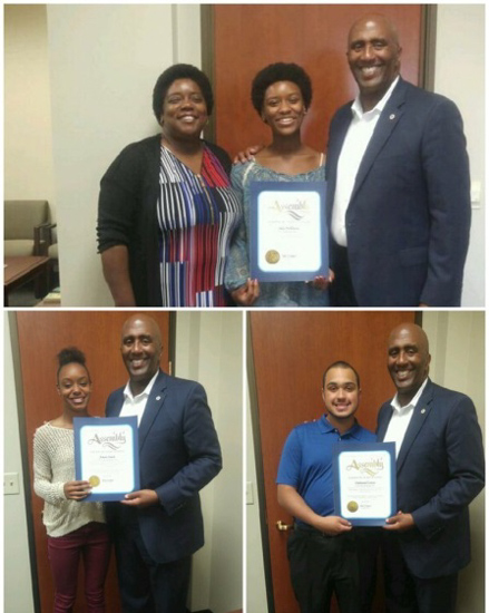 Legislative Black Caucus Assembly District 9 scholarship recipients