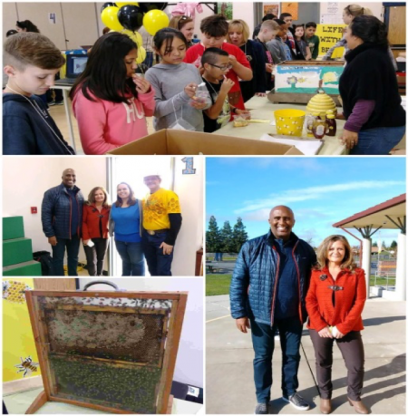 It's was great to BEE in Galt with students at Lake Canyon Elementary School checking out their Interactive Bee Museum. Very impressive! Big thanks to Principal Judi Hayes and the kids for having me!