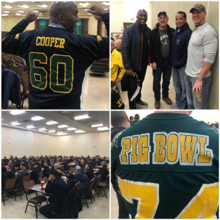 I attended this year's Guns 'N Hoses Pig bowl players breakfast with my brothers and sisters in blue. Thanks for protecting our community and putting your life on the line every day to make our community a better place to live, work, and raise a family.