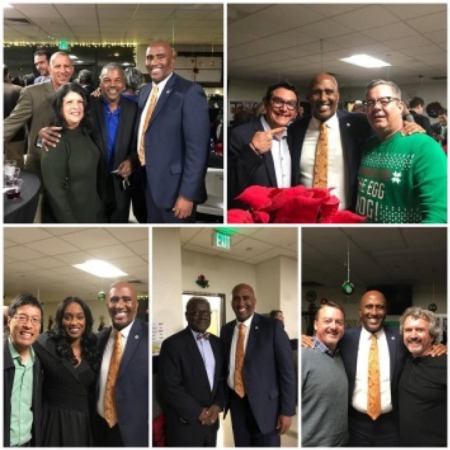 It was another festive and busy holiday season. In this photo, I joined the hard-working men and women of the Sacramento-Sierra's Building & Construction Trades Council at their annual holiday party.