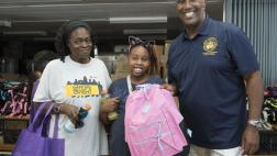 Assemblymember Cooper with Attendees at Back to School Fair