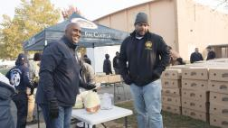 Assemblymember Cooper at his Thanksgiving Turkey Giveaway
