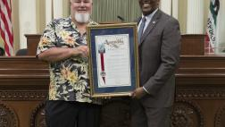 Assemblymeber Cooper Presents Resolution to Anthony Daniel Lederer
