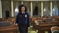 New Future Farmers of America President, Breanna Holbert on Assembly Floor