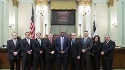 Assemblymember Cooper with large group