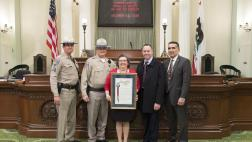 Cordelia Valdez, and CHP Officers on the Assembly Floor