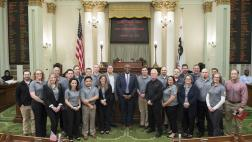 Assemblymember Cooper Welcomes International Paper Representatives to the Capitol