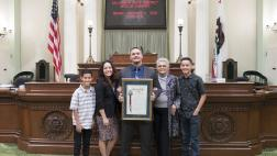 Clint Cooley and Family on the Assembly Floor