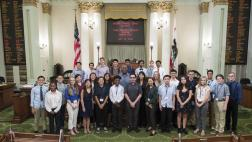 Assemblymember Cooper with the Young Assemblymember Program Participants
